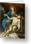 Pieta Painting Greeting Cards - Pieta Greeting Card by Italian School