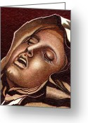 Ball Point Pen Greeting Cards - Pieta Greeting Card by Jerry  Stith