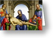 Pieta Painting Greeting Cards - Pieta Greeting Card by Pietro Perugino