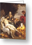 Pieta Painting Greeting Cards - Pieta Greeting Card by Sir Anthony van Dyck