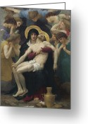 Adolphe Greeting Cards - Pieta Greeting Card by William Adolphe Bouguereau