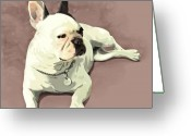 Animal Portrait Greeting Cards - Piglet Greeting Card by Simon Sturge