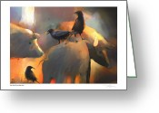 Blackbirds Greeting Cards - Pigs Dont Fly Greeting Card by Bob Salo