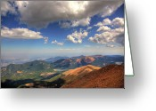 Summit Greeting Cards - Pikes Peak Summit Greeting Card by Shawn Everhart