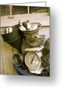 Kitchen Ware Greeting Cards - Pile By the Woodshed  Greeting Card by Nancy Patterson