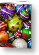 25th Greeting Cards - Pile of beautiful ornaments Greeting Card by Garry Gay