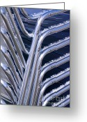 Aluminum Greeting Cards - Pile Of Chairs Greeting Card by Carlos Caetano
