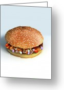 Illustration Technique Digital Art Greeting Cards - Pill Burger Greeting Card by MedicalRF.com