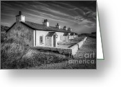 Home Greeting Cards - Pilot Cottages Greeting Card by Adrian Evans