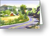 Pilot Knob Greeting Cards - Pilot Knob Mountain out JJ Greeting Card by Kip DeVore