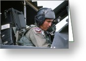 War Plane Greeting Cards - Pilot Sits In The Cockpit Of A F-117a Greeting Card by Stocktrek Images