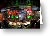 Assistance Greeting Cards - Pilots At The Controls Of A B-52 Greeting Card by Stocktrek Images