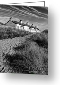 Stone Chimney Greeting Cards - Pilots Cottages Greeting Card by Adrian Evans