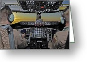Control Greeting Cards - Pilots Fly Over The Mountains Greeting Card by Stocktrek Images