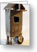 Emotion Sculpture Greeting Cards - Pin Bolt Wheel  Greeting Card by Kim Iberg