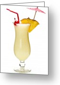 Alcoholic Greeting Cards - Pina colada cocktail Greeting Card by Elena Elisseeva