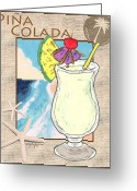 Island Artist Pastels Greeting Cards - Pina Colada Greeting Card by William Depaula
