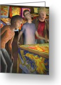 Arcade Digital Art Greeting Cards - Pinball Wizard Greeting Card by Jamison Smith
