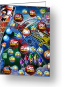 Web Gallery Greeting Cards - Pinball Wizard-the Signs Of The Times Collection Greeting Card by Signs Of The Times