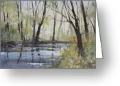 Ryan Greeting Cards - Pine River Reflections Greeting Card by Ryan Radke