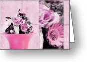 Decorativ Photo Greeting Cards - Pink Greeting Card by Angela Doelling AD DESIGN Photo and PhotoArt