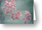 Tiny Flowers Greeting Cards - Pink Beauty Greeting Card by Priska Wettstein