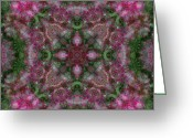 Boho Greeting Cards - Pink Bloom 04 Greeting Card by Mercury McCutcheon