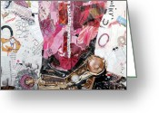 "\\\""texas Artist\\\\\\\"" Greeting Cards - Pink Boot 2 Greeting Card by Suzy Pal Powell"