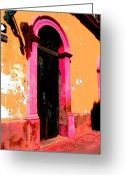 Image Gypsies Greeting Cards - Pink Door 1 by Darian Day Greeting Card by Olden Mexico