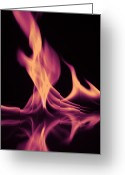 Geometric Framed Prints Greeting Cards - Pink Fire on Water Greeting Card by M K  Miller