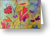 Ruth Palmer Greeting Cards - Pink Floral Greeting Card by Ruth Palmer