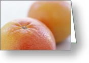 Food And Beverage Greeting Cards - Pink Grapefruits Greeting Card by David Munns