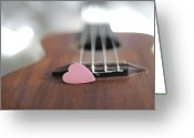 Shape Photo Greeting Cards - Pink Heart Greeting Card by © 2011 Staci Kennelly