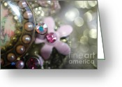 Jewels Digital Art Greeting Cards - Pink Jewels Greeting Card by AdSpice Studios