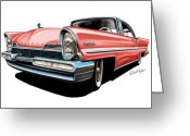 David Kyte Greeting Cards - Pink Lincoln Premier  Greeting Card by David Kyte