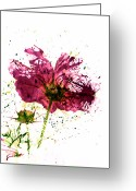 Colours Greeting Cards - Pink Mess Greeting Card by Larysa Luciw