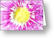 Brushes Digital Art Greeting Cards - Pink Peace Greeting Card by Andrea Barbieri