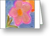Flower. Petals Pastels Greeting Cards - Pink Petals Greeting Card by A Luella K