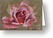 Flower Blossom Greeting Cards - Pink Rose Greeting Card by Gretchen Bjornson
