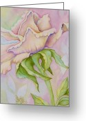Hyperrealistic Greeting Cards - Pink Rose Greeting Card by Shelly Ziska