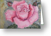 Pamela Meredith Greeting Cards - Pink Rose Greeting Card by Pamela  Meredith