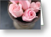 Indoors Greeting Cards - Pink Roses Greeting Card by Shawna Lemay