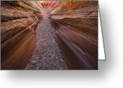 Canyon Walls Greeting Cards - Pink Slot Greeting Card by Joseph Rossbach