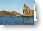 Bartolome Greeting Cards - Pinnacle Rock from sea Greeting Card by Sami Sarkis