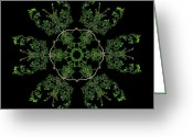 Lacy Contemporary Greeting Cards - Pinwheel II Greeting Card by Debra and Dave Vanderlaan