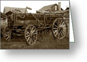 Freight Greeting Cards - Pioneer Freight Wagon - Nevada City Ghost Town Greeting Card by Daniel Hagerman