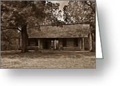 Log House Greeting Cards - Pioneer Log House 1 Greeting Card by Douglas Barnett