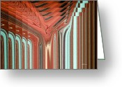 Pixel Bending Greeting Cards - Pipe Dream Greeting Card by Greg Reed Brown
