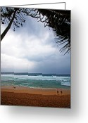 Northshore Greeting Cards - Pipeline Storm Greeting Card by Ty Helbach