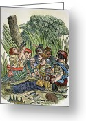 Piracy Greeting Cards - Pirate Crew Greeting Card by Granger